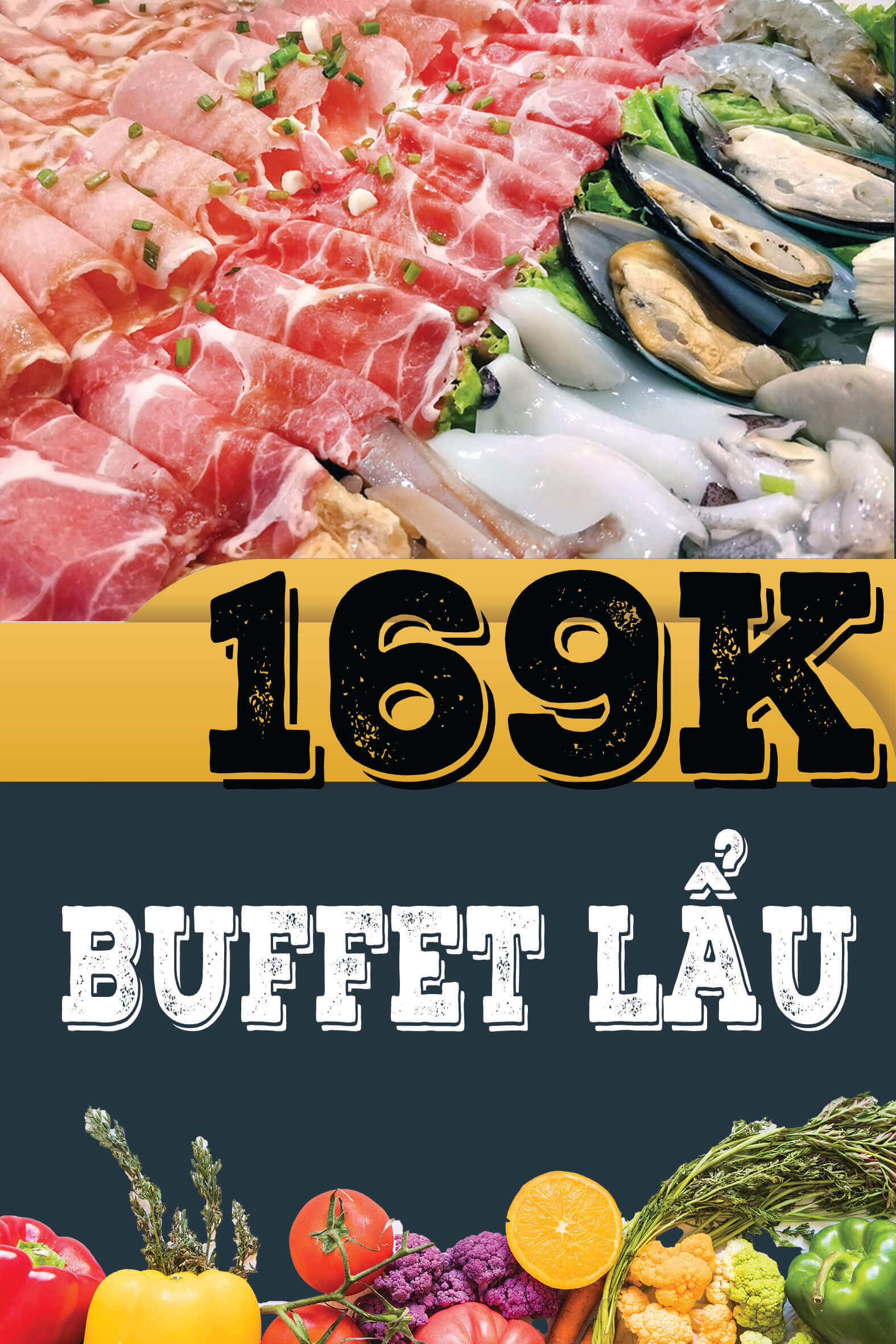 Menu Buffet Lẩu 169k